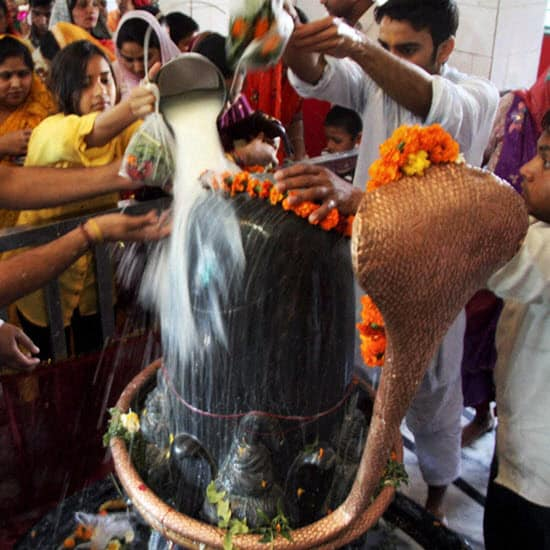 Worshiping Lord Shiva